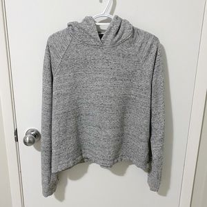 Aritzia Wilfred Free Terry Knit Cropped Hoodie Gray size Medium